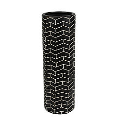 Black and White Arrows Ceramic Vase