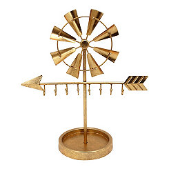 Gold Windmill and Arrow Jewelry Holder