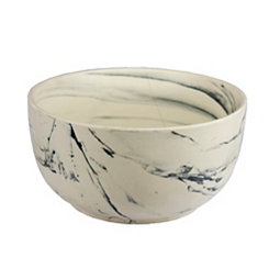 Black and White Marbled Decorative Bowl