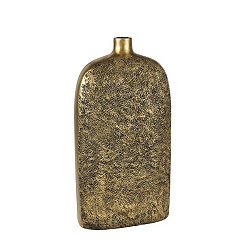 Textured Gold Bottle Vase