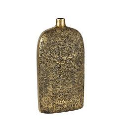 Textured Gold Bottle Vase