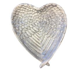 Silver Wings Heart Plate