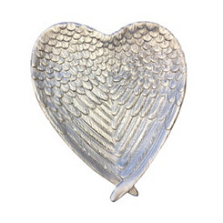 Silver Wings Heart Plate