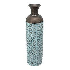 Blue Floral Cylinder Vase