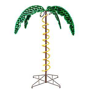 Pre-Lit Holographic Palm Tree, 4.5 ft.