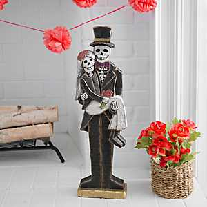 Day of the Dead Couples Skeleton Statue