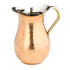 Hammered Copper Water Pitcher