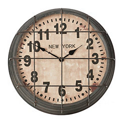 Metal New York Subway Wall Clock
