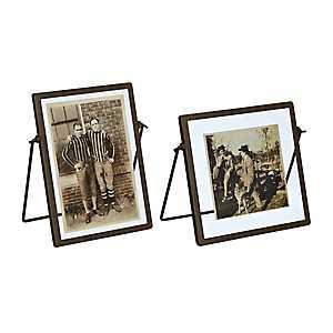 Metal Trim Picture Frames, Set of 2
