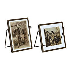 Metal Trim Picture Frames, Set of 2