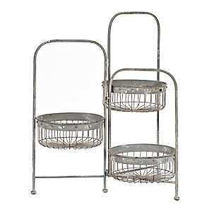 Three Tier Wire Baskets