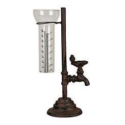 Cast Iron Tap Rain Gauge Vase
