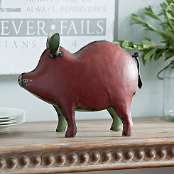 Recycled Red Metal Pig