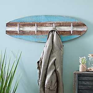 Wooden Surfboard Wall Hook