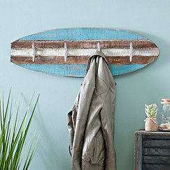 Wooden Surfboard Wall Hook