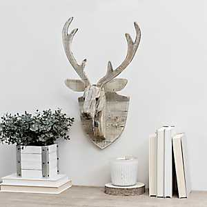 Recycled Wood Deer Wall Plaque