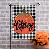 Welcome Pumpkin Flag Set