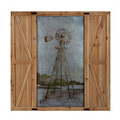 Windmill Barn Door Framed Art Print