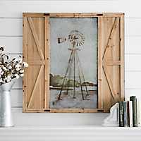 Windmill Barn Door Framed Art Print