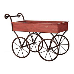 Rustic Red Decorative Wagon