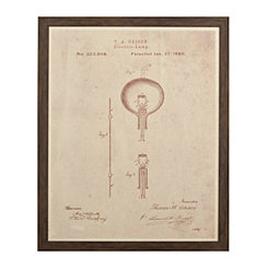 Edison Blueprint Framed Art Print