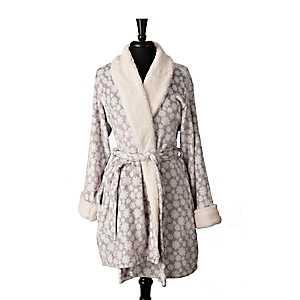 Gray Snowstorm Women's Robe, L/XL