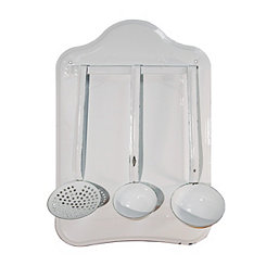 White Enamel Ladle Set