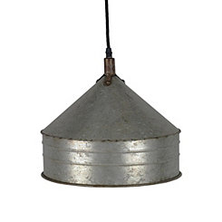 Galvanized Metal Pendant Light