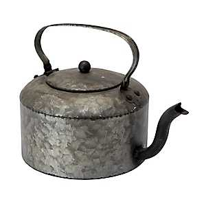 Galvanized Metal Decorative Teapot