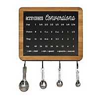 Conversion Chart with Measuring Spoons