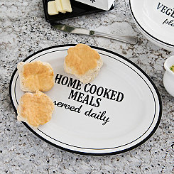 Home Cooked Meals Serving Platter