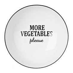More Vegetables Please Serving Bowl