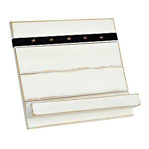 White Slat Board Cookbook Holder