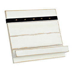 White Slat Board Cookbook Holder