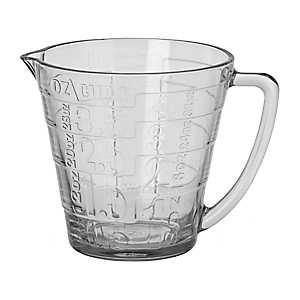 Clear Retro Glass Measuring Cup