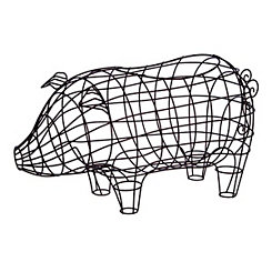Wire Pig Basket