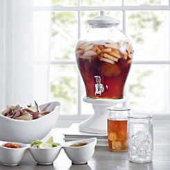 Sanford White Ceramic And Glass Beverage Dispenser