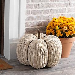Cream Woven Pumpkin