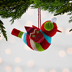 Multicolored Bird with Earmuff Ornament