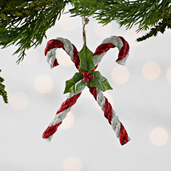 Double Candy Cane Ornament