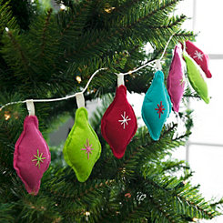 Multicolored Felt Light Bulb Garland