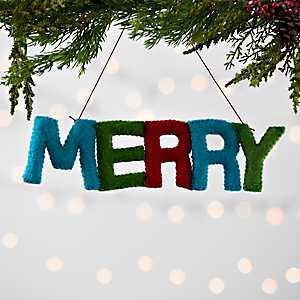 Multicolored Merry Felt Ornament