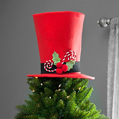 Red Top Hat Tree Topper