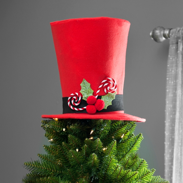 ... Red Top Hat Tree Topper ...