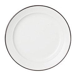 Matte White Bolzano Dinner Plate