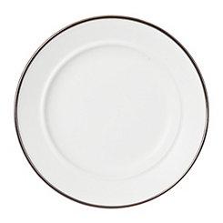Matte White Bolzano Salad Plate
