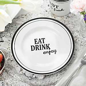 Eat Drink Enjoy Salad Plate