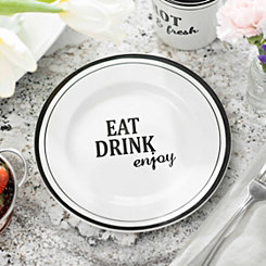 Eat Drink Enjoy Salad Plate