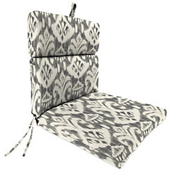 Rivoli Graphite Outdoor Dining Chair Cushion