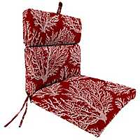 Sea Coral Red Outdoor Dining Chair Cushion